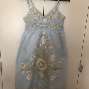 Hand embroidered babydoll dress